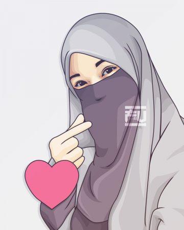 Gambar Kartun Berhijab Untuk Profil Wa