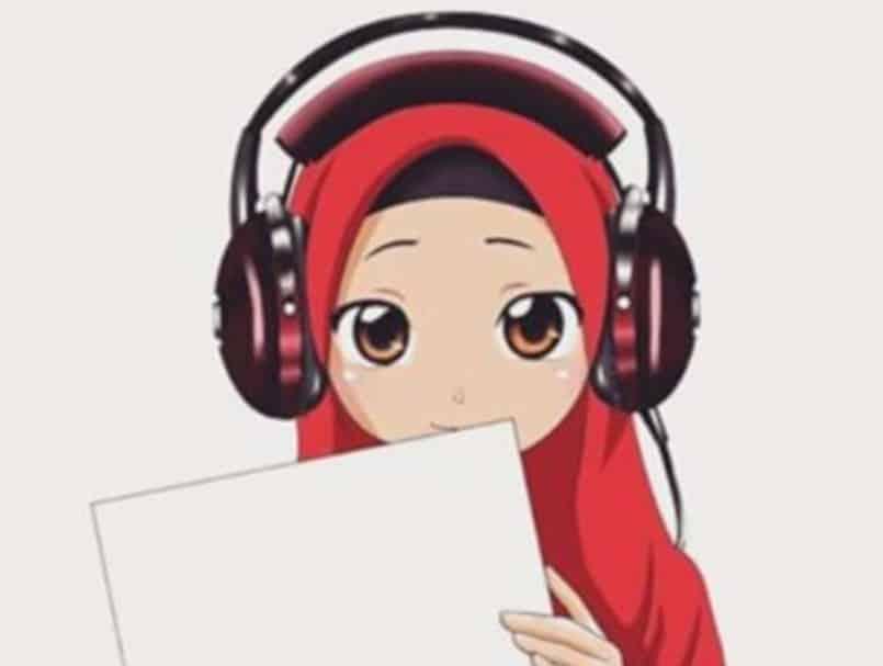 Gambar Kartun Muslimah Berbakat