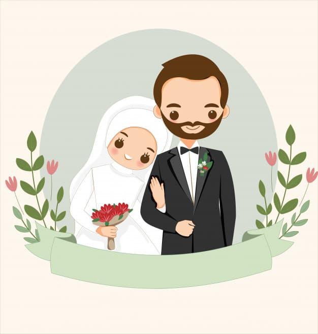 Gambar Kartun Muslimah Suami Istri