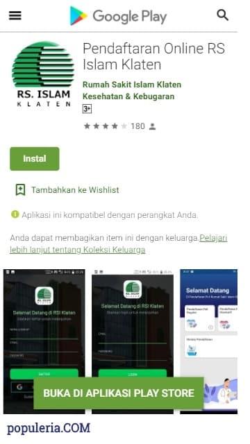 aplikasi pendaftaran rs islam klaten secara online mudah dan praktis