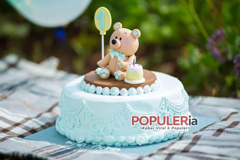 kue ulang tahun anak gambar beruang