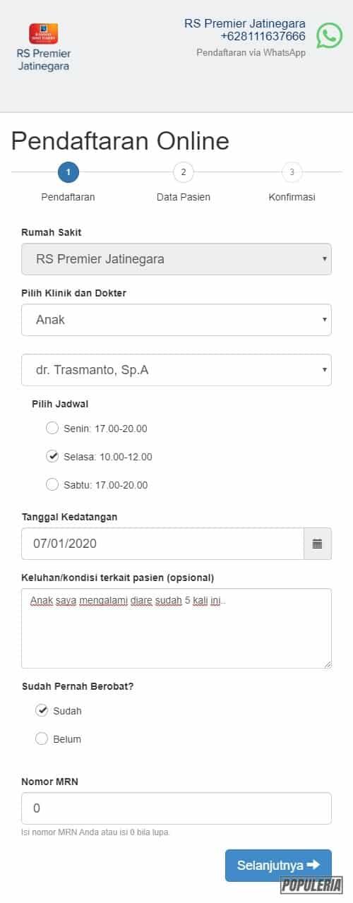 pendaftaran online rs premier jatinegara secara mudah dan cepat Jadwal RS Premier Jatinegara meliputi Klinik, Dokter, Hari dan Jam Tugasnya